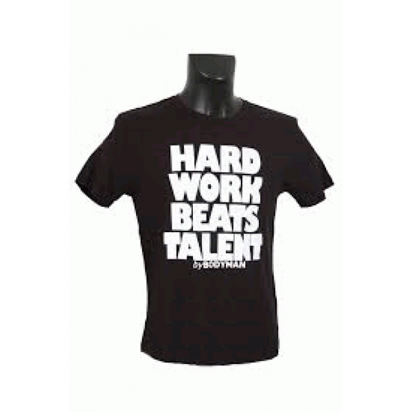 Image of Bodyman T-shirt Hard Work VS Talent