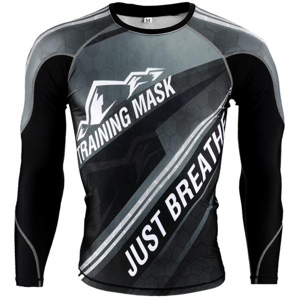 Image of   Elevation Training Mask Compression Shirt Grå